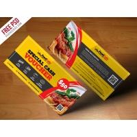 Food Cash Voucher Template Free PSD