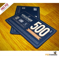Gift Voucher Template Free PSD Vol 3