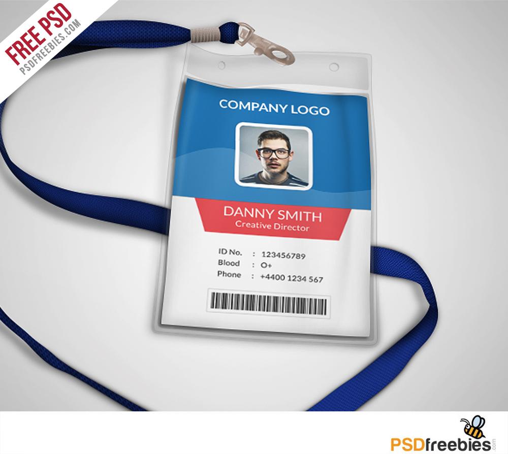 Multipurpose Company ID Card Free PSD Template