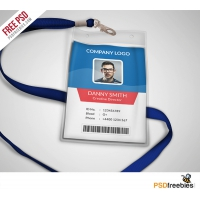 Multipurpose Company ID Card Free PSD Template