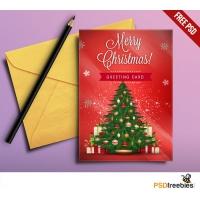 Christmas Greeting Card Free PSD