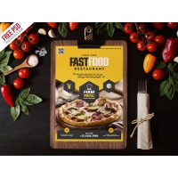 Fast Food Restaurant Menu Flyer Template PSD