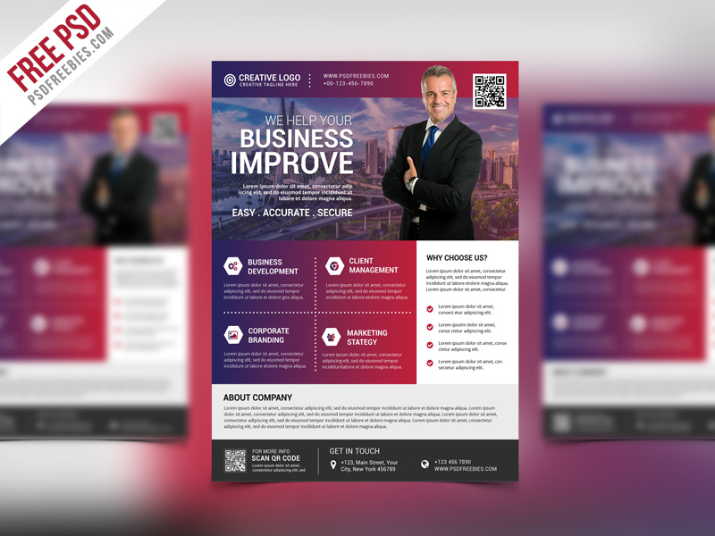 Multipurpose Creative Business Flyer PSD Template