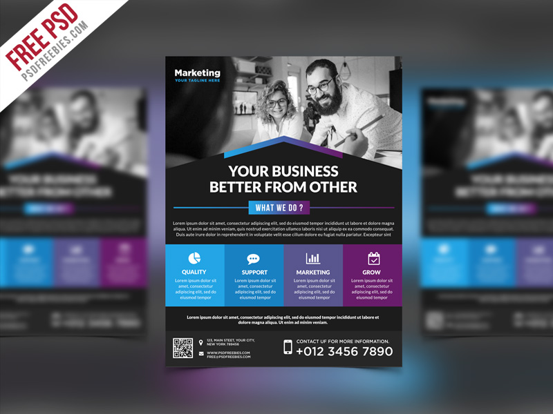 Multipurpose Promotional Flyer PSD Template