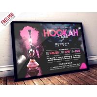 Hookah Night Party Flyer PSD Template