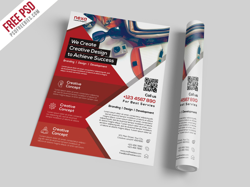 Business and Corporate Flyer Template Free PSD