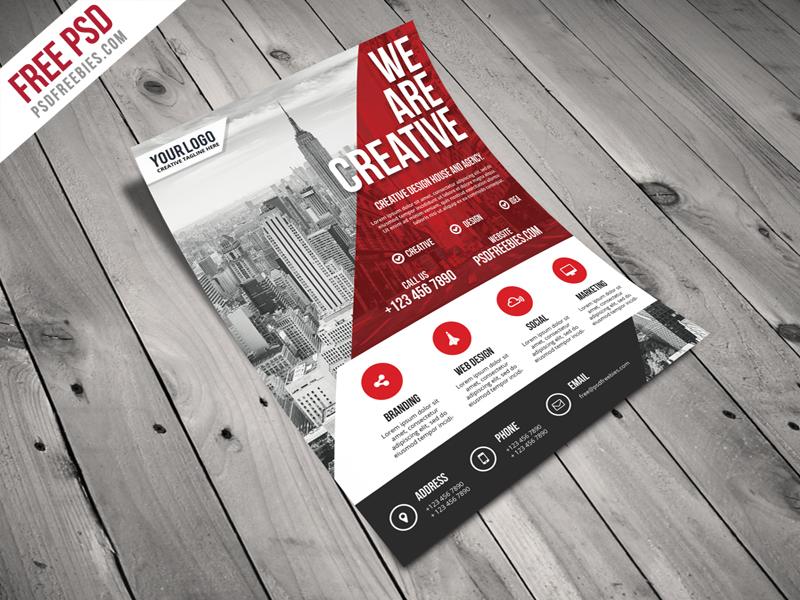 Modern Business Agency Flyer Free PSD