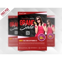 Grand Sale Flyer Template Free PSD