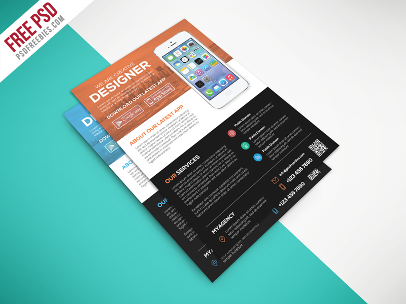 Multipurpose Mobile App Flyer Free PSD Template