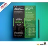 Modern Business Agency Flyer Template Free PSD