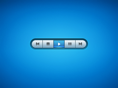 Blue Media Player Interface
