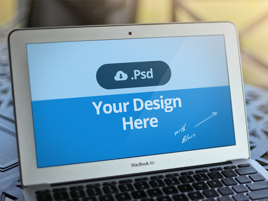 Macbook PSD Template
