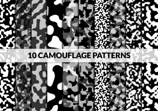 10 Camouflage Patterns