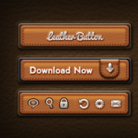 Leather User Interface Elements By Softarea