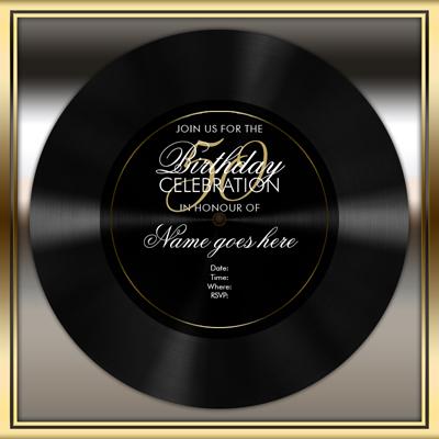 Vinyl Celebration Template