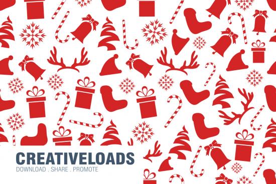 Seamless Christmas Pattern PSD