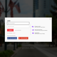 Login And Registration Form Free PSD