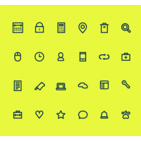 24 Simple Small Icons