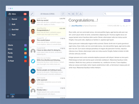 Email App Interface Template