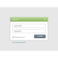 Login Form Template
