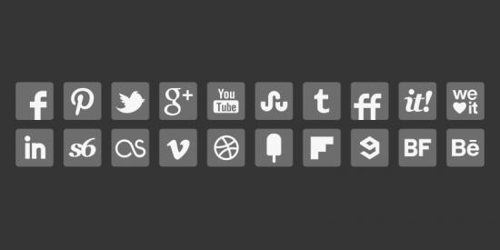 Grey Social Media Icons