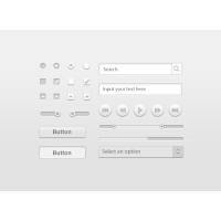 White Clean User Interface Kit