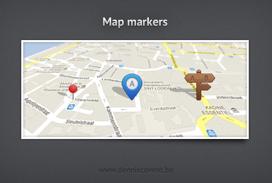 Map Markers Design