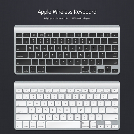 Apple Wireless Keyboard Psd File