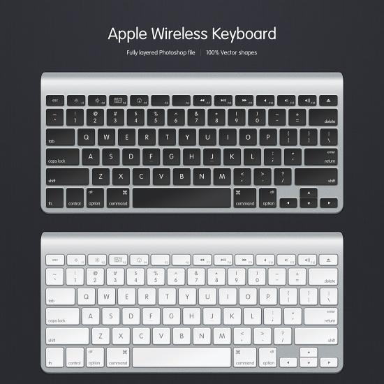 Apple Wireless Keyboard Psd File