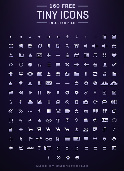 Tiny Icons By MonstersLab