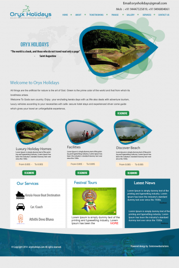 Travel Site Template