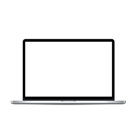 Laptop Template With Blank Screen