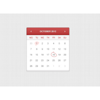 Hand Stitched Calendar
