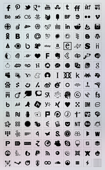 Transparent Background Black Color Icons Set