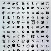 Transparent Background Black Color Icons Set