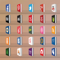 50 Free Creative Social Medial Icons Book Style