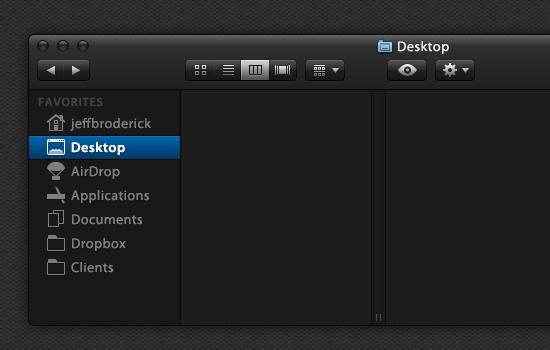 Dark User Interface