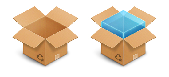 Dropbox PSD Icon