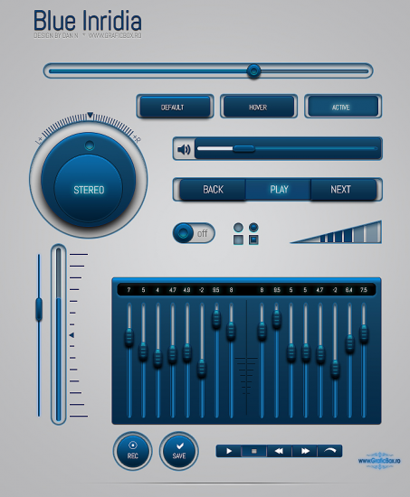 Blue Inridia S-Master Lit