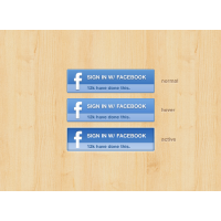 Facebook Login Status Badge