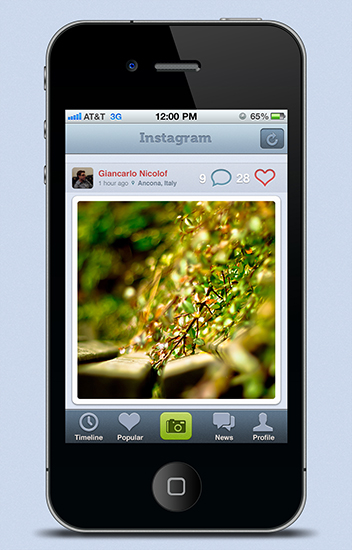Instagram Interface Redesign