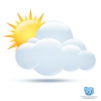 Sun With Clouds PSD