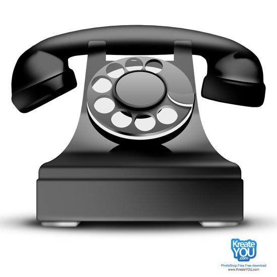 Modern Phone Icon Psd File