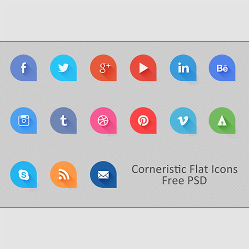 Corneristic Flat Icons