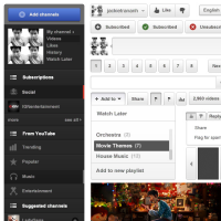 Youtube Interface PSD