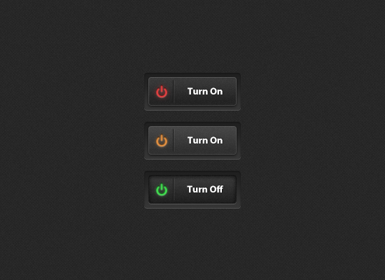 Black On-Off Buttons