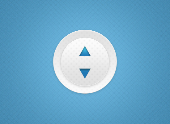 Blue And White Volume Button