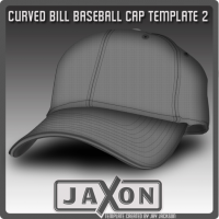 Curved Bill Baseball Template By JayJaxon