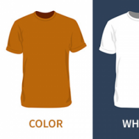 Blank T-Shirt Mockup Template PSD
