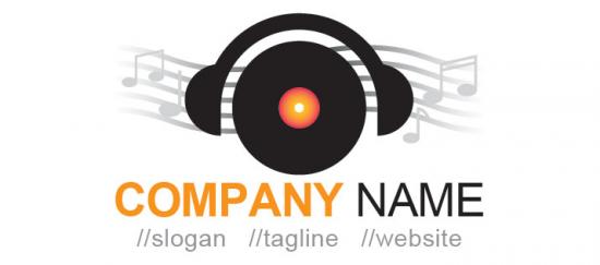 Cute Music DJ Logo